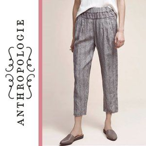 Anthropologie/Hei Hei | Striped Linen Cropped Pant